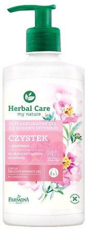 Herbal Care Ultradelikatny żel do higieny intymnej Czystek 330ml