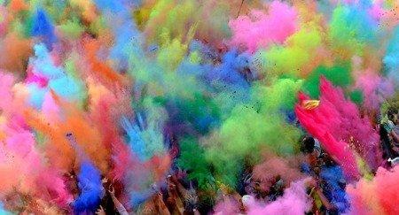 Proszek Hi Holi 100 g - kolor jasno różowy