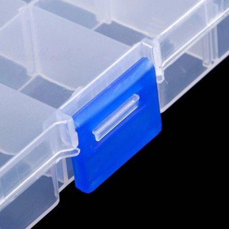 Puste pudełko na ozdoby do paznokci 10 przegródek