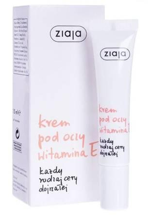 ZIAJA lekki krem pod oczy z witaminą E 15 ml